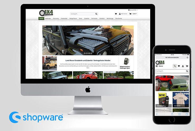 Land Rover Zubehör- und Ersatzteilhändler wechselt von Magento zu Shopware