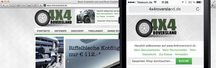 4X4 Roversland ab sofort für Smartphones optimiert