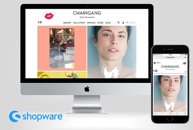 Chaingang Jewelry Store startet mit Traumkombination Shopware & WordPress