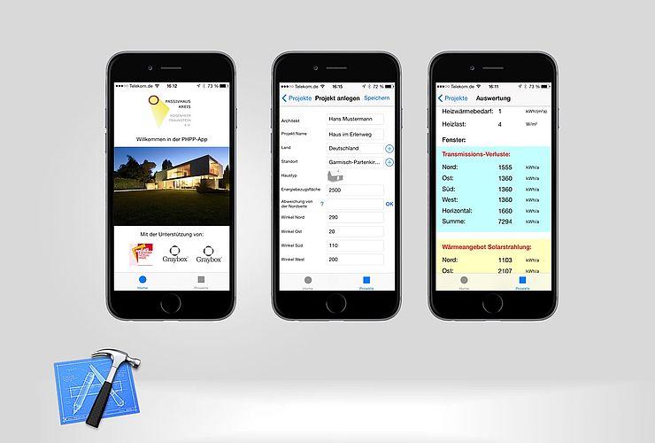 Passivhauskreis veröffentlicht iOS App zur Erstellung einer Energiebilanz mit dem Passivhaus Projektierung-Paket