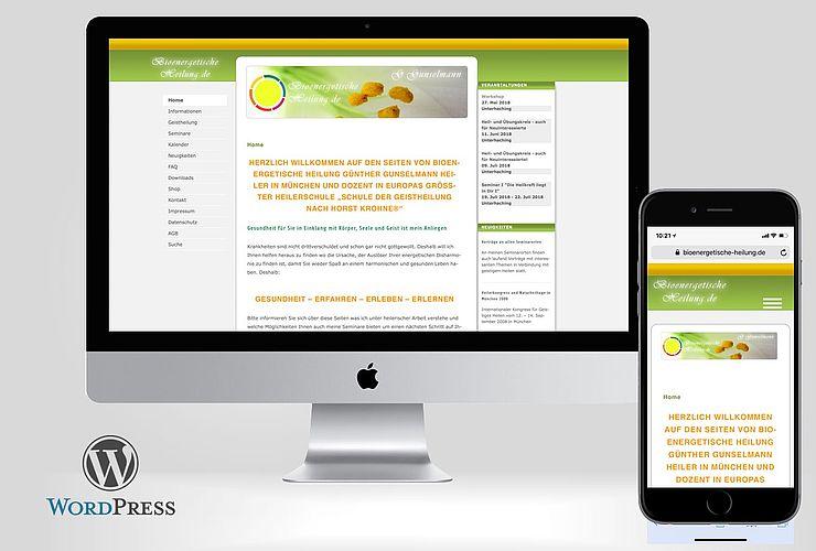 Bioenergetische Heilung relauncht auf Basis von WordPress