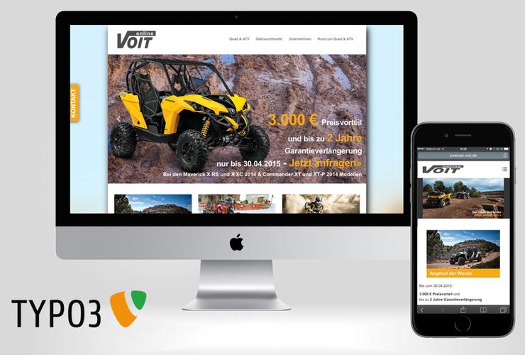 Zweirad Voit GmbH relauncht Webauftritt mit TYPO3