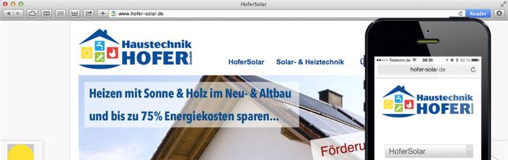 Hofer Haustechnik GmbH aktualisiert Webauftritt