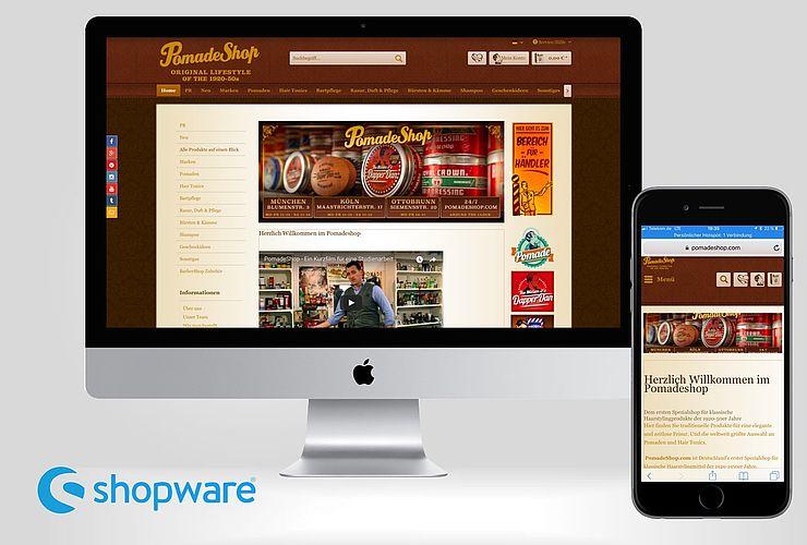 Pomade lässt Shopware glänzen