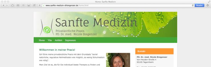 Praxis für sanfte Medizin startet mit TYPO3