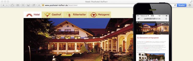 Posthotel Hofherr relauncht mit TYPO3 und ist ab sofort responsive