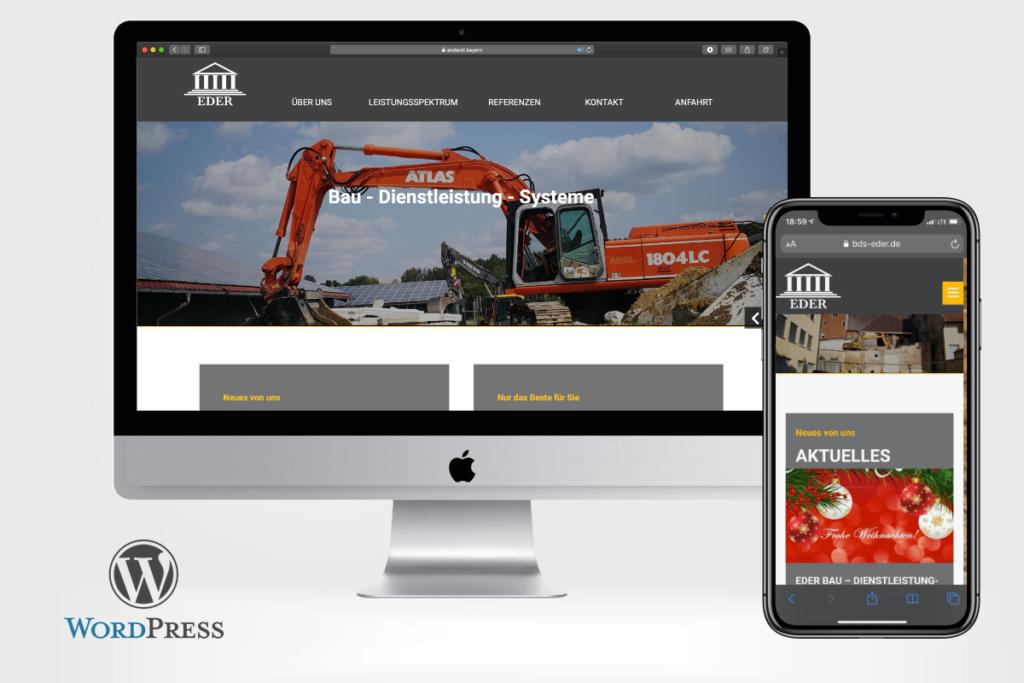 BDS – Bau – Dienstleistung-Systeme startet mit WordPress