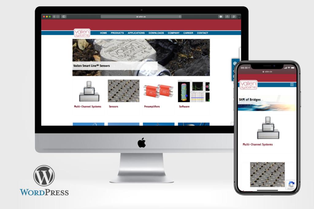 Vallen Systeme GmbH relauncht mit WordPress